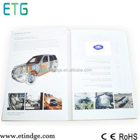 "chinese wholesale 2.8/3.5/4.3/7"" handmade lcd video brochure card for advertising display"