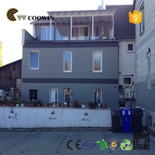 Prefabricated house outdoor wall decorative siding /composite exterior wpc wall cladding /waterproof wall panel