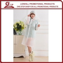 Adult Clear PVC Rain Coat Elegant and Beautiful