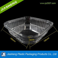 PET material clear plastic fruit/vegetable packaging tray