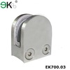 Stainless steel railing fitting square D-shaped glass clamp rail