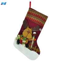 Lovely Cute Bear Santa Christmas Holiday Stocking Sock Gift Bags Ornament/Decoration