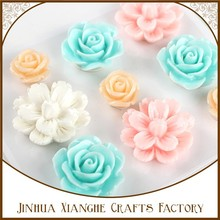 wholesale diy resin flower, bulk craft resin rose flowers resin enbelliments , flat back resins flowers for jewelry