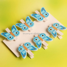 Decoration Butterfly Wooden Clips New Wood Clip Pegs Global Wholesale (BF108)