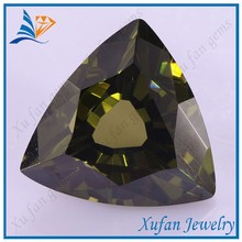 fat triangle cut olive loose gemstone for jewelry