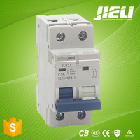 2015 new model single phase double poles mini circuit breaker mcb
