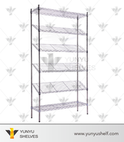 guangzhou 6 layers wire library magazine rack