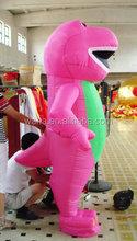 Waha customized pink inflatable dinosaur costume 2015 new design