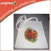 reusable cute zippered canvas cotton tote bag