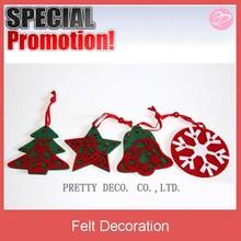 Offering reasonable price hanging felt star shape decoration for Xmas decorative