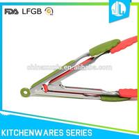 Professional company latest design silicone kitchen tongs