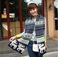 C83444A 2014 lady Christmas scarf/hot sale winter warm scarf