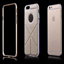 Popular high quality TPU and leather stand cell phone case bag for iphone 6