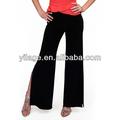 Señoras completa- longitud de pierna ancha pantalones de las señoras elegantes sueltas pantalón para las mujeres