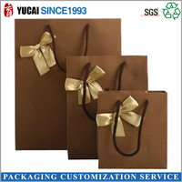 HOT SALE brown kraft Paper shopping Packing bag