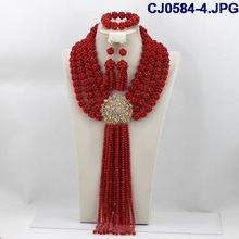 CJ0584-4 2014 New arrival Fashion Design beads jewelry,Nice beads set with high quality necklace and earring for wedding/party