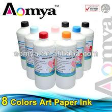 Vivid color inkjet Art paper ink for c2s paper