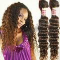 El pelo peruano que no hace el nudo para extensiones de pelo rizado natural