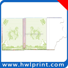 Top binding coated chipboard spiral steno books kids Paper magnetic cover school notebook