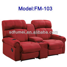 FM-103 Luxury sofa furniture fabric recliner home cinema chair