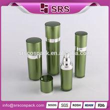 verde forma de cono de envases cosméticos conjunto y el atomizador botellas biodegradables al por mayor loción botella