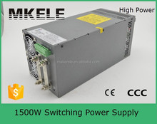 SCN-1500-15 high efficiency 1500w 15v led switch power supply 15v with PFC function