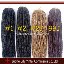 Large in stok!!!Synthetic Braiding Hair Senegalese Braids Crochet Senegalese Twists Braid Hair Extensions