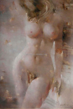 Handpainted nude girl oil painting on canvas, modern abstract canvas oil paintings