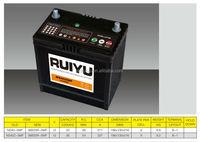 Hot export high quality JIS STD 12V NS40 SMF36AH Automotive Lead acid Battery