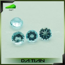 Wholesale gemstone sky blue round topaz stones for jewelry