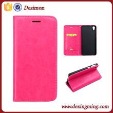 Desimon OEM Magnetic Flip ID Card PU Leather mobile phone Cover for HTC 826