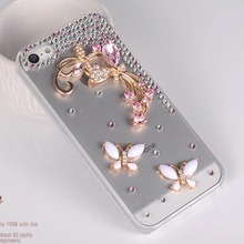 Diamond PC Cover for iPhone Transparent Hard Case,Fashion Jewel Case for iPhone 4/5/6