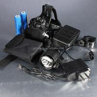 Waterproof 1800lm CREE XM-L T6 LED Bicycle Light Lamp HeadLight HeadLamp+charger+Battery Bag+2x Battery+bike Holder+headband