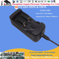 Universal 5pin port micro usb charger dual-slot for 18650 lithium ion battery