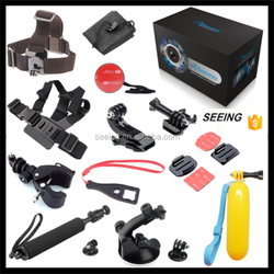 Accessories set kit 13 in 1 for gopros heros head wrist strap + handlebar monopod mount