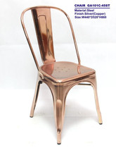 Rose Gold Vintage French Provincial Dining Chairs
