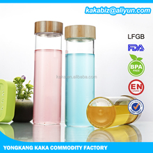 540ml twin neck glass tea bottle with stainless steel infuser