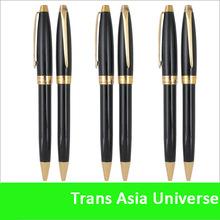 Top quality cheap custom luxury promotional pen gold black