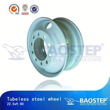 BAOSTEP Tubelees 22.5x9.00 22.5 steel truck wheel