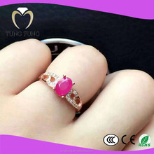 2015 best selling fashionable design ruby 925 ring