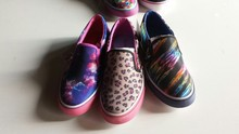 Unisex toddlers horse fur leather loafers custom funny kids flat casual shoe