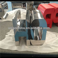 polished fabricated 304 stainless steel alloy alphabet letter signs