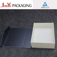Silver gray hot stamping folding paperboard wine storage case