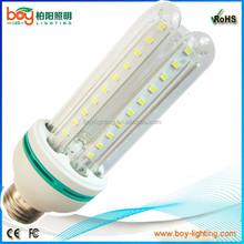 Boy factory 85-265v AC 3U shape corn with glass 12w e27 12v led bulb e27