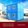 commercial quality with glass prefabricated modular house and light villa