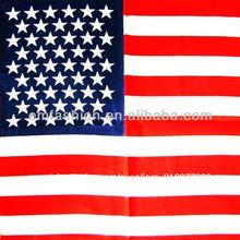 Moda barata la bandera de estados unidos 100% de impresión de algodón niños de hip hop pañuelo