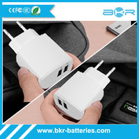 Universal 5V 2.4A 2 Ports Dual EU USB Wall Charger Adapter for cell phone