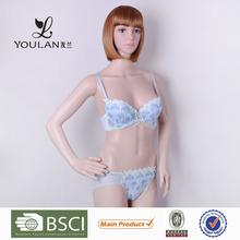 Super Quality Popular Cute Girl Flower Lace Women Underwear Sex Dress Bra Set