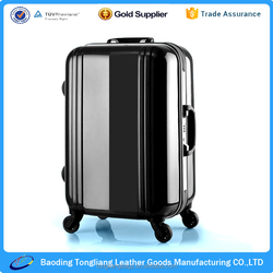 ABS PC luggage/trolley luggage/suitcase luggage/Carry On Spinner 4 Wheeled Hardside Upright travel luggage