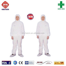 single use protective coverall with boots
